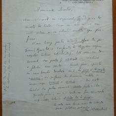 Scrisoare a lui Simion Mehedinti, din 1929, viitorul legionar si nationalist - Autograf