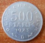 Germania, Republica Weimar 500 MARK  1923 KM 36