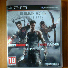 Ultimate Action Pack, Just Cause 2, Sleeping Dogs, Tomb Raider, Ps3 - Jocuri PS3 Square Enix