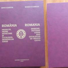 Schaffer, Stambuliu, Romania, proiecte, probe monetare si catalogul monedelor