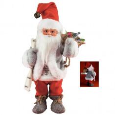 Figurina Mos Craciun ce danseaza si canta, inaltime 30 cm - Ornamente Craciun