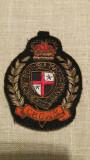 Ecuson stema militara ordinul Jartierei din UK, vintage, colectie, 8,5 x 7 cm