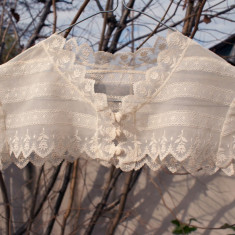 Dantela fina, pentru bluza sau rochie - Haine vintage