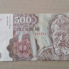 Bancnota 500 lei Brancusi Aprilie 1991 - Bancnota romaneasca