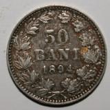 IEFTN!!!OKAZIE!!! 50 BANI 1894 . STARE FOARTE BUNA . - Moneda Romania, Argint