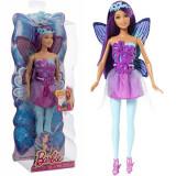Jucarie Barbie Fairy Summer cu par mov CFF34 Mattel