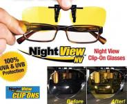 123123Lentile Night View Clip Ons de Condus Noaptea si pe Ceata cu Protectie UV