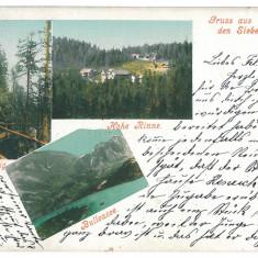 38 - Litho, Sibiu, HOHE RINNE, NEGOIU - old postcard - used - 1901 - Carte Postala Transilvania pana la 1904, Circulata, Printata