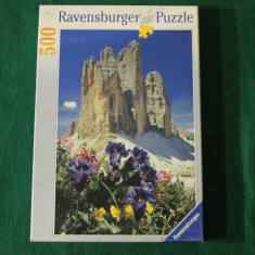 Ravensburger PUZZLE 500 piese, 36 x 49 cm, no. 142286 Made in Germany, Carton, 2D (plan)