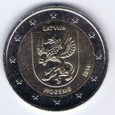 LETONIA moneda 2 euro comemorativa 2016 - Vidzeme, UNC