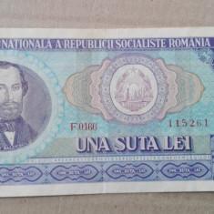 Bancnota de 100 lei 1966, noua - Bancnota romaneasca