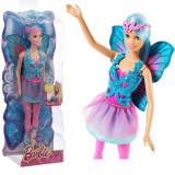 Papusa Barbie Fairy cu par albastru CFF35 Mattel, 4-6 ani