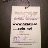 Bilet invitatie YUGOSLAVIA / IUGOSLAVIA - ROMANIA 1977 Calificare la WC '78