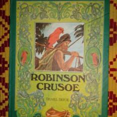 Robinson Crusoe ( ilustratii - Iacob Dezideriu )/carte in lb.engleza- D.Defoe - Carte educativa