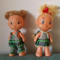 2 papusi pereche baiat si fata, vintage, colectie, 16cm, Hong Kong, haiosi - Papusa