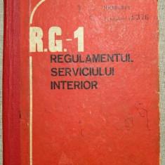 R.G.-1 Regulamentul Serviciului Interior, 1989, Nesecret, Exemplarul 9376, RSR