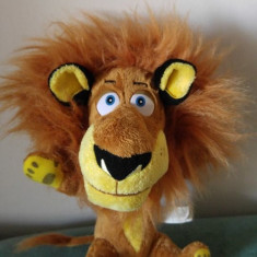 Jucarie plus leu Alex din Madagascar, 23cm Big Headz Drem Works Animation - Jucarii plus