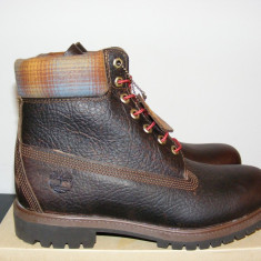 Ghete Timberland 6 Inch Premium Brown Leather 9640B nr. 41, 5 - Ghete barbati Timberland, Culoare: Din imagine, Piele naturala