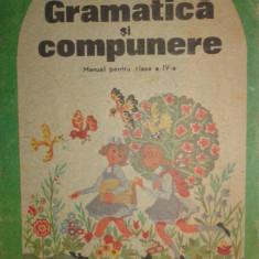 Gramatica si compunere manual pentru clasa a IV -a an 1991/87pag. - Manual scolar Altele, Clasa 4, Romana