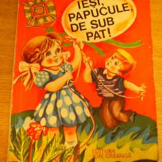 MCCC - IESI PAPUCULE DE SUB PAT! - ED 1978 - Carte cu ghicitori pentru copii