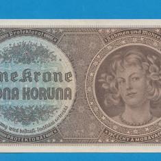 Moravia Boemia 1 krone koruna 1940 UNC - bancnota europa