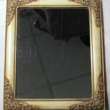 Oglinda de masa inramata cu rama vintage cu picior