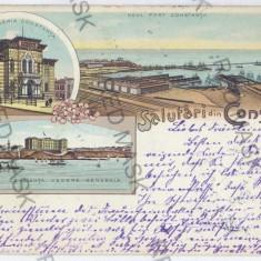 3293 - L i t h o, CONSTANTA - old postcard - used - 1899 - Carte Postala Dobrogea pana la 1904, Circulata, Printata