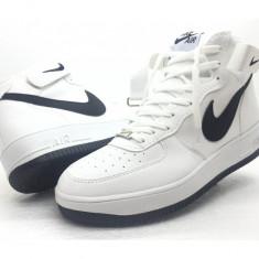 Ghete Alb cu Negru adidasi Nike Air Force One unisex marimi 36 - 44 - Ghete barbati Nike, Marime: 38, Culoare: Din imagine, Piele sintetica