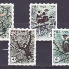 Fauna maimute WWF Vietnam. - Timbre straine, Nestampilat