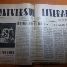 ziarul universul literar 10 octombrie 1944