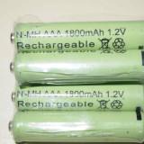 Baterii reincarcabile AAA, 1800mAh, 1.2V