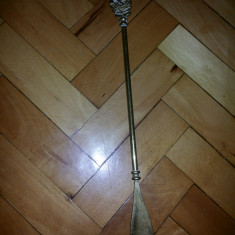 Incaltator vechi, englezesc, din bronz, pentru pantofi - Metal/Fonta