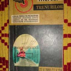 Mersul trenurilor 22.05.1966 - 27.05.1967 /295pagini