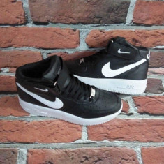 Ghete Negru cu Alb adidasi Nike Air Force One unisex marimi 36 - 44 - Ghete barbati Nike, Marime: 37, 43, Culoare: Din imagine, Piele sintetica