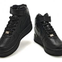 Ghete Negre adidasi Nike Air Force One unisex marimi 36 - 44 - Ghete barbati Nike, Marime: 37, 42, Culoare: Negru, Piele sintetica