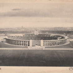 Vedere necirculata Berlin - stadionul olimpic din Berlin, stadionul nazist 1936, Printata