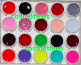 Set 20 GELURI NEON CCN unghii false /cu gel /geluri UV /colorate, Canni