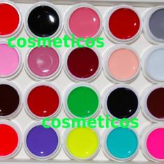 Set 20 GELURI NEON CCN unghii false /cu gel /geluri UV /colorate - Gel unghii Canni