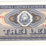 3 lei 1966 perfect UNC - Bancnota romaneasca