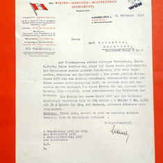 SCRISOARE TRIMISA DE GEORG FRANK WAFFEN catre EMIL SCHUSTER din Bucuresti 1937