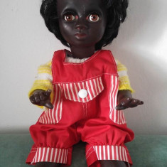 Papusa negresa Edmund Knoch Engel Puppen Germany, 37 cm, Marcata EK