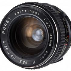 M42 Porst 35mm F2.8 MC sn 773573 - Obiectiv DSLR Porst, Wide (grandangular), Manual focus, Nikon FX/DX