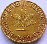 Moneda 10 Pfennig - GERMANIA, anul 1950 *cod 1470 Lit. F, Europa
