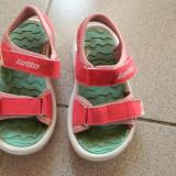 Sandale, sandalute de joaca pt fetite, marimea 30, marca Lotto, roz fluorescent