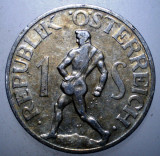 B.903 AUSTRIA 1 SCHILLING 1946, Europa, Aluminiu