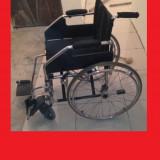 Scaun cu rotile - Fotoliu (carucior) rulant de otel cu rotile pline