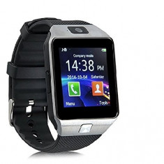 Ceas Smartwatch DZ09 cu MicroSIM si Camera SPY Argintiu, Alte materiale, Android Wear