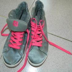 Adidasi, tenisi, tenesi dama, gri cu roz fluo, 37-38, marca Domyos- Decathlon - Adidasi dama, Culoare: Din imagine