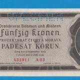 Moravia Boemia 50 kronen korun 1940 UNC SPECIMEN
