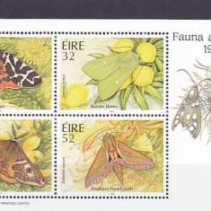 Fauna fluturi, Irlanda. - Timbre straine, Nestampilat